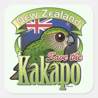 Save the New Zealand Kakapo Square Sticker
