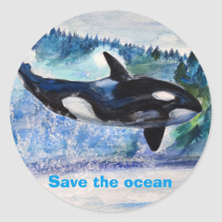 Save the Ocean Orca Wildlife Sticker