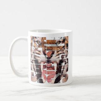 Save the of tiger basic white mug