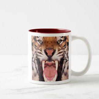 Save the of tiger Two-Tone mug