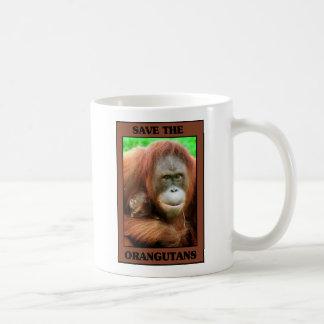 Save the Orangutans Basic White Mug