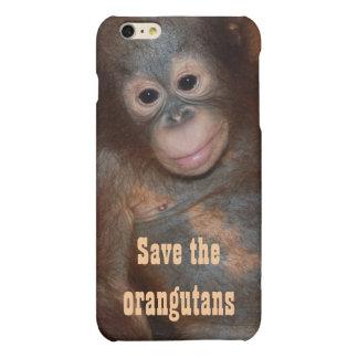 Save the Orangutans Charity Animal Rescue iPhone 6 Plus Case