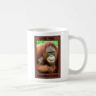 Save the Orangutans Coffee Mug