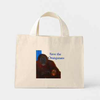 Save the Orangutans Mini Tote Bag