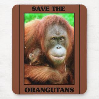 Save the Orangutans Mouse Pad