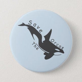 Save the Orcas 7.5 Cm Round Badge