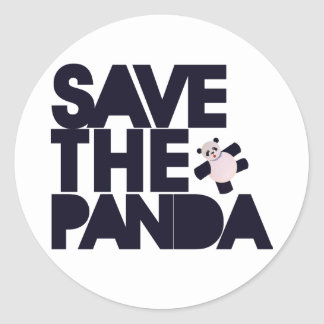 Save the Panda Bear Classic Round Sticker