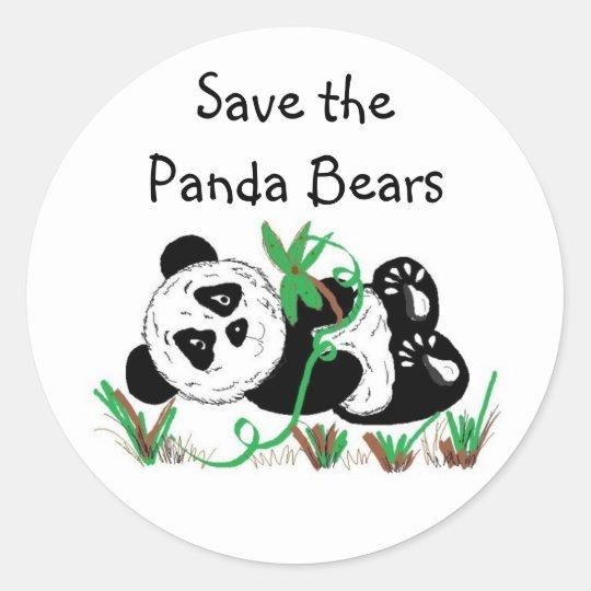 Save the Panda Bears Round Sticker