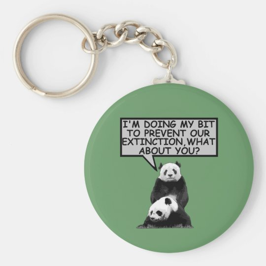 Save the Panda Key Ring