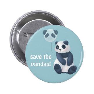Save the Pandas! 6 Cm Round Badge