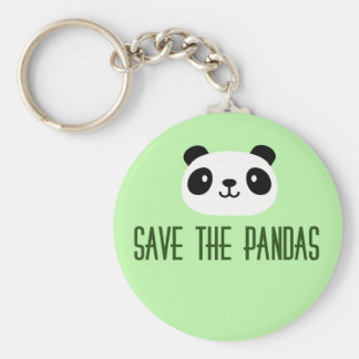 Save The Pandas Basic Round Button Key Ring