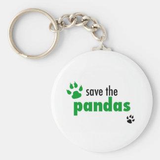 Save The Pandas Basic Round Button Key Ring