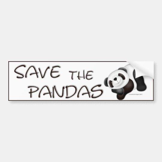 Save The Pandas Bumper Sticker