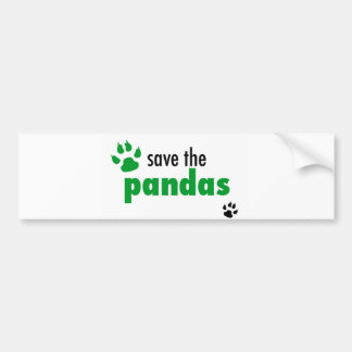 Save The Pandas Bumper Sticker
