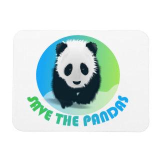Save the Pandas Flexible Magnet