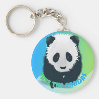 Save the Pandas Keychain