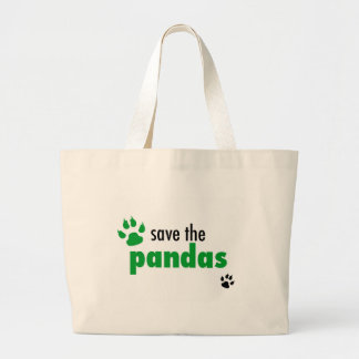 Save The Pandas Large Tote Bag
