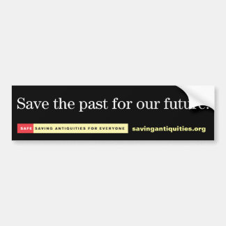 Save the past for our future bumper sticker