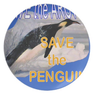Save the penguin plate