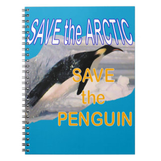Save the penguin spiral notebook