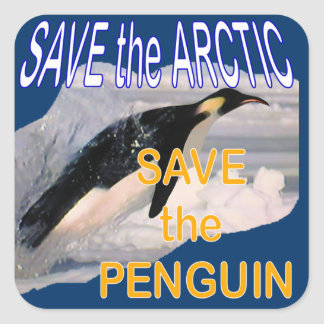 Save the penguin stickers