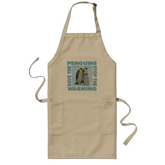 Save the Penguins Long Apron