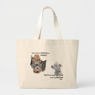 Save the Pitbull Large Tote Bag