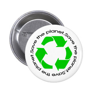 Save the Planet Pinback Button