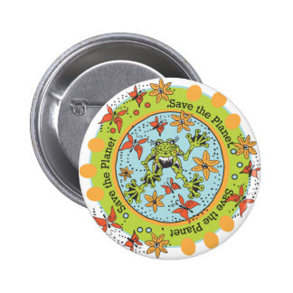 Save the Planet 6 Cm Round Badge