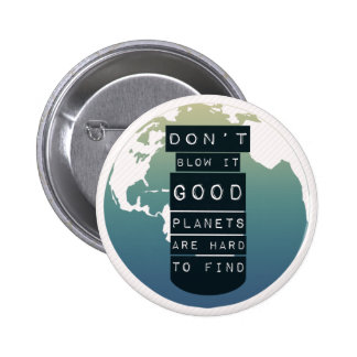 Save the Planet button