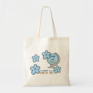 Save the Planet Earth Day Globe Tote Bag