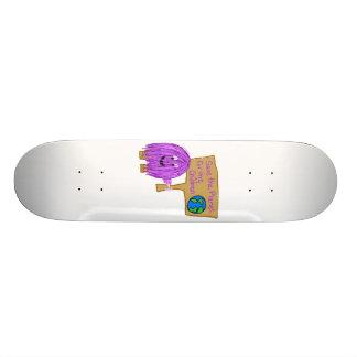 save the planet for the children custom skateboard