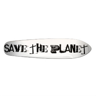Save The Planet, Funny Black Typography 20.6 Cm Skateboard Deck