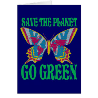 Save The Planet Go Green Card