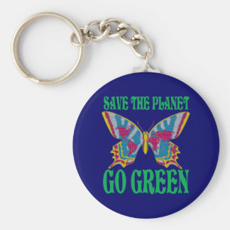 Save The Planet Go Green Key Chains