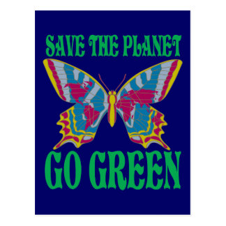 Save The Planet Go Green Postcards