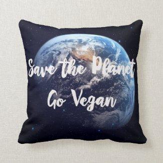 Save The Planet Go Vegan Cushion