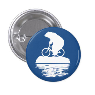 Save the Planet: Polar Bear Bicycle Button
