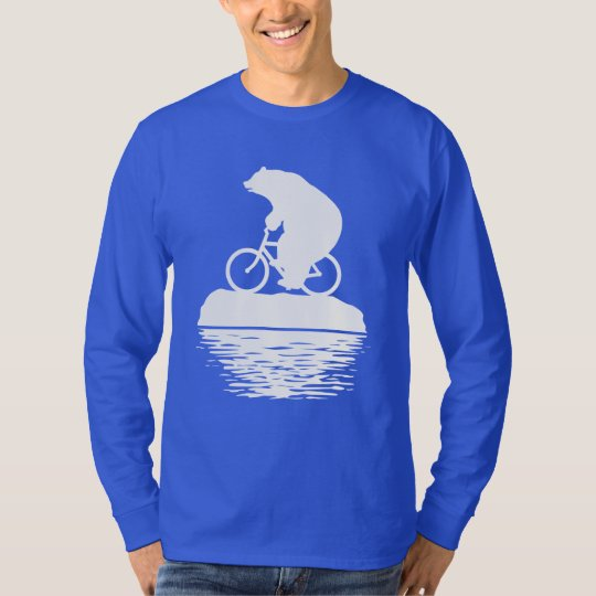 Save the Planet: Polar Bear Bicycle Men's T-shirt