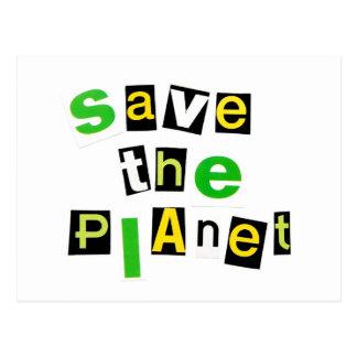 Save the Planet Postcard