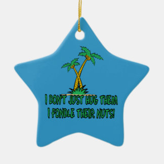 Save the planet treehugger ceramic star decoration