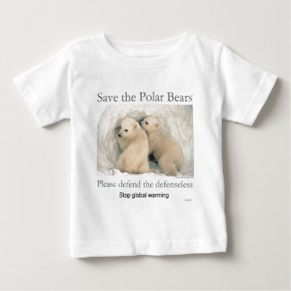 Save the Polar Bears Baby T-Shirt