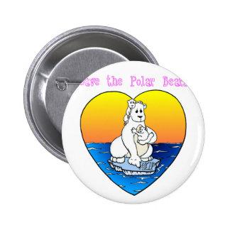 Save the Polar Bears 6 Cm Round Badge