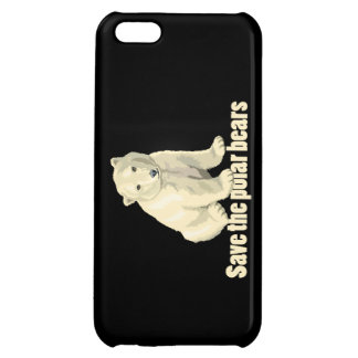 Save the Polar Bears Cover For iPhone 5C