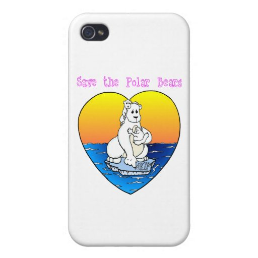 Save the Polar Bears Case For iPhone 4