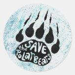 Save The Polar Bears Round Sticker