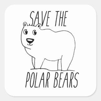 Save The Polar Bears Stickers