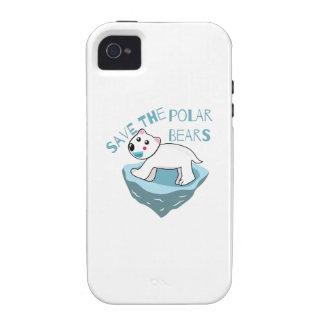 Save The Polar Bears Vibe iPhone 4 Cases