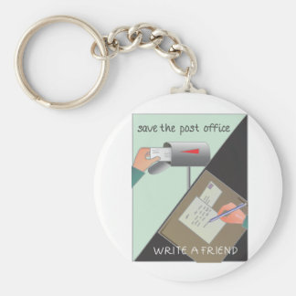 Save the Post Office/ Write a Friend Keychain