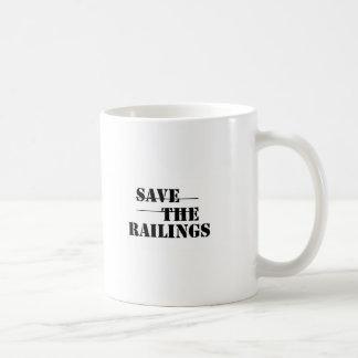 SAVE THE RAILINGS! BASIC WHITE MUG